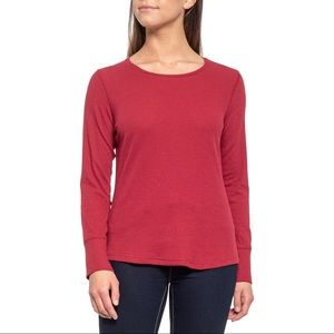 Nordstrom Pst Red Waffle Knit Thermal Shirt